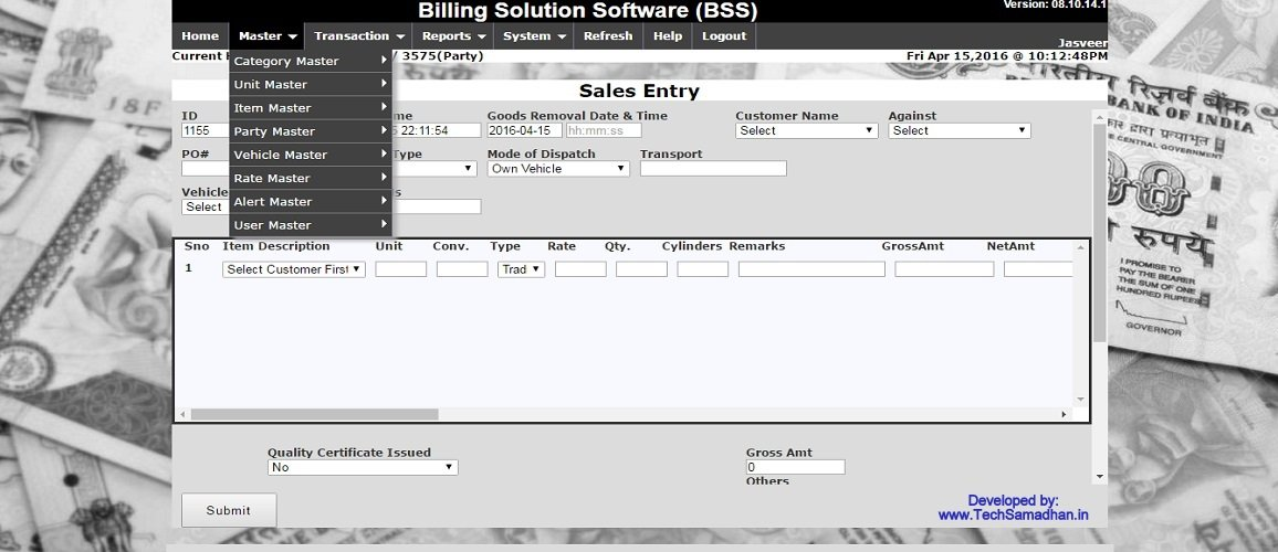Inventory & Billing Software by Tech Samadhan