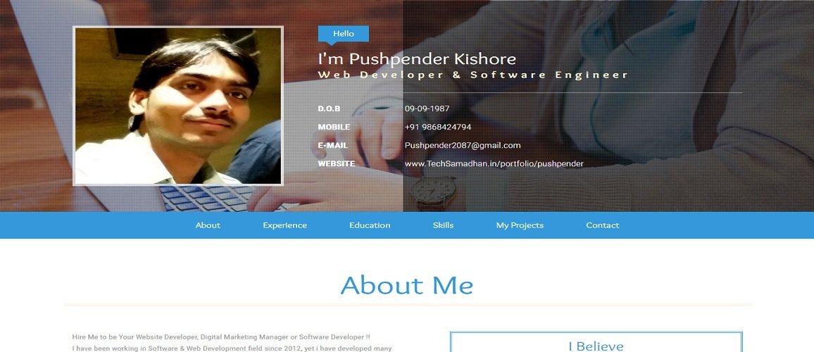 www.techsamadhan.in/portfolio1/pushpender by Tech Samadhan