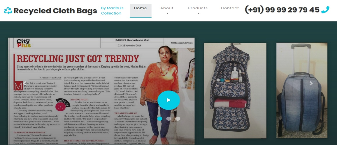 www.RecycledClothBags.com by Tech Samadhan